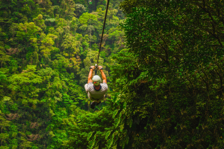 Jungle Zipline tours Costa Rica