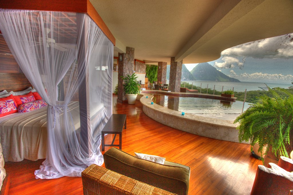 Traveling to St. Lucia Jade Mountain room 2