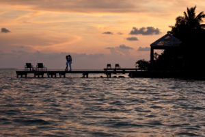 Belize Vacation Romantic Sunset