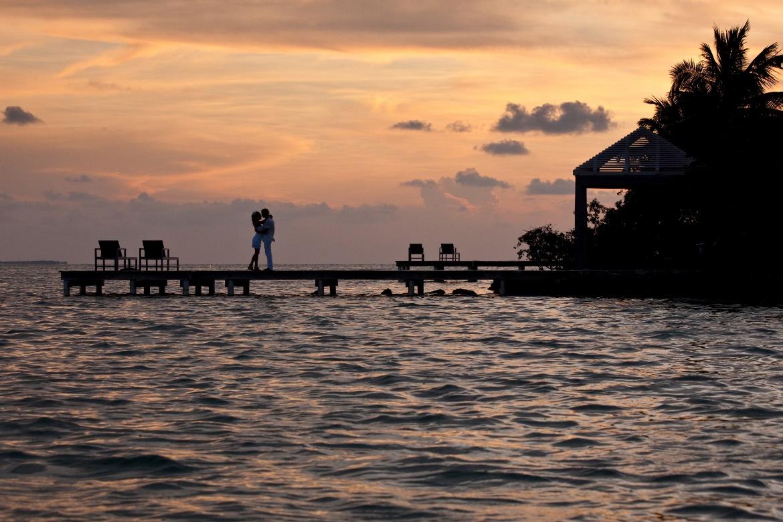 Belize Vacation Romantic Sunset
