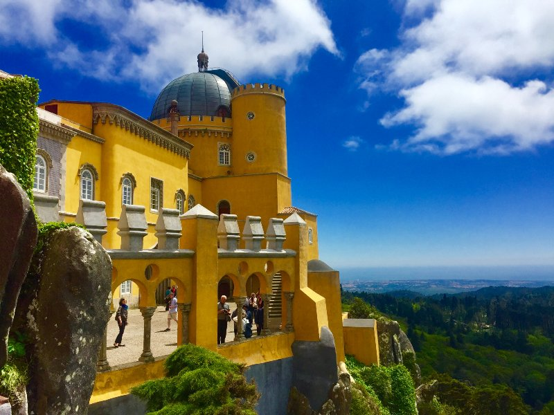 Pena Castle in Sintra, Portugal is a dream