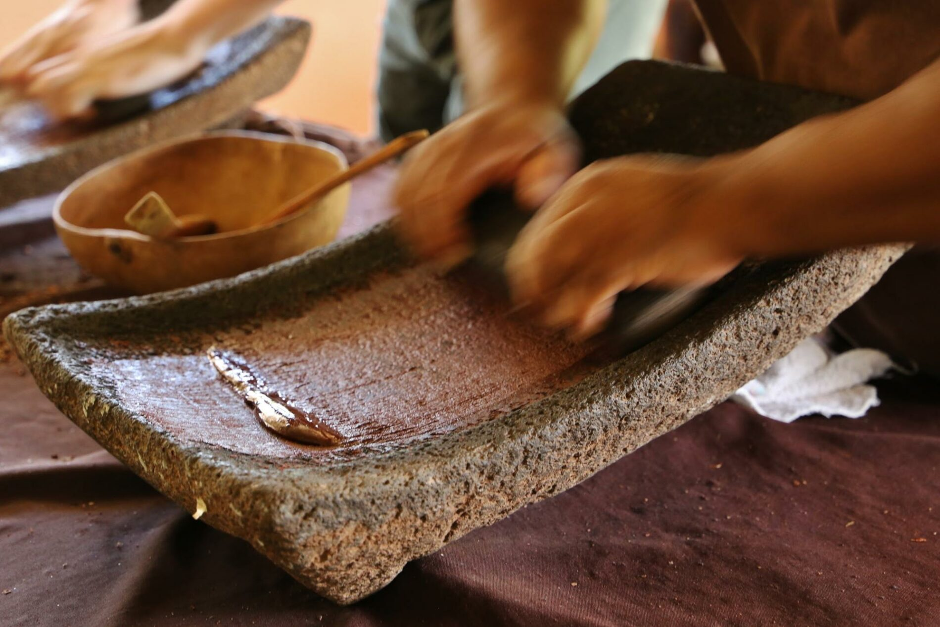 Traditional Belizean Maya chocolate making at Ixcacao farm