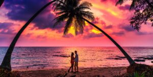 Belize Honeymoon with unforgettable sunsets